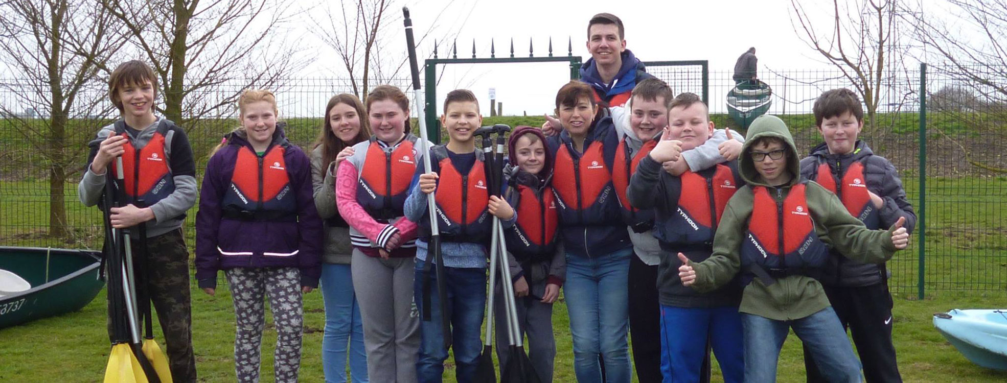 Young People in March canoeing trip